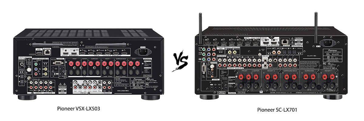 Pioneer VSX-LX503 vs Pioneer SC-LX701 back