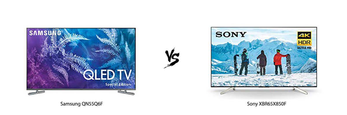 Samsung QN55Q6F vs Sony XBR65X850F