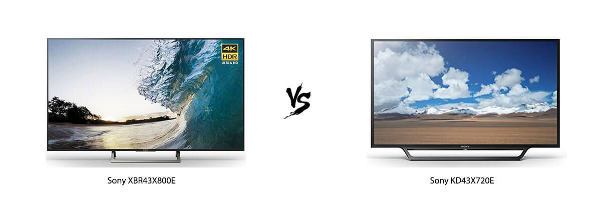 Sony XBR43X800E vs Sony KD43X720E
