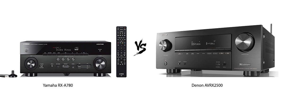 Yamaha RX-A780 vs Denon AVRX2500