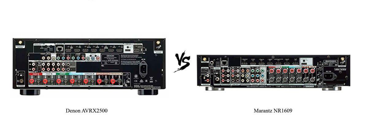 Marantz NR1609 vs Denon AVR-X2500H Review [2019] - HelpToChoose