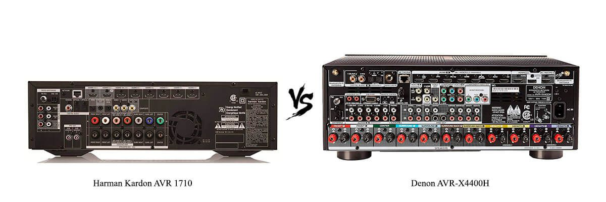 Harman Kardon AVR 1710 vs Denon AVR-X4400H back