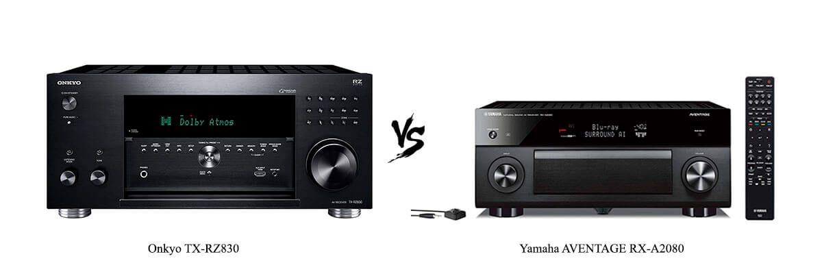 Onkyo TX-RZ830 vs Yamaha AVENTAGE RX-A2080