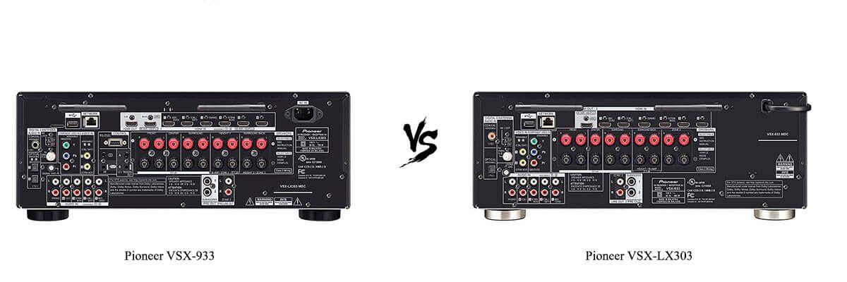 Pioneer VSX-933 vs Pioneer VSX-LX303 back