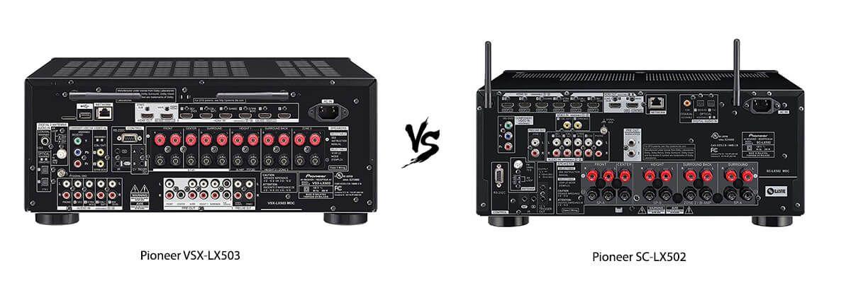Pioneer VSX-LX503 vs Pioneer SC-LX502 back