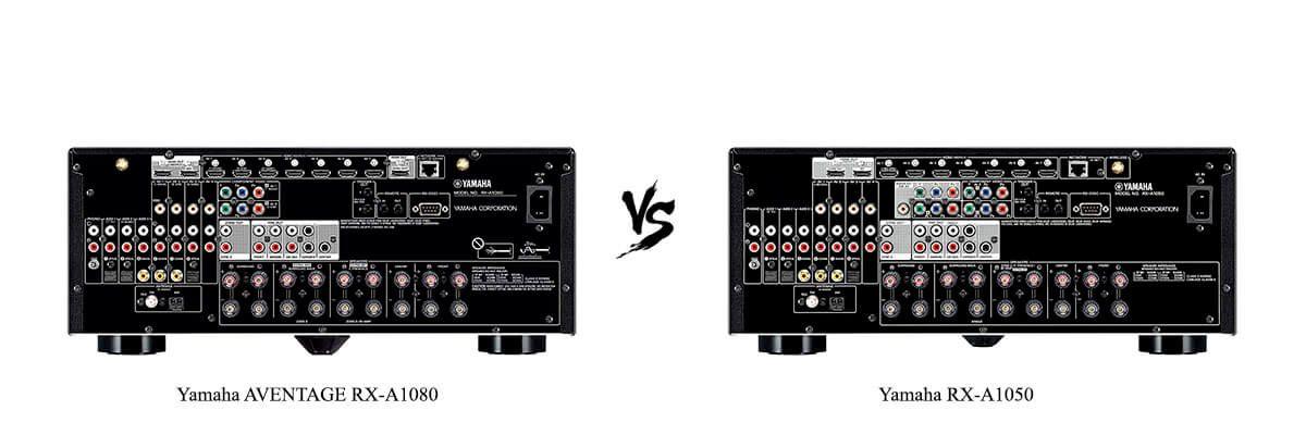 Yamaha AVENTAGE RX-A1080 vs Yamaha RX-A1050 back