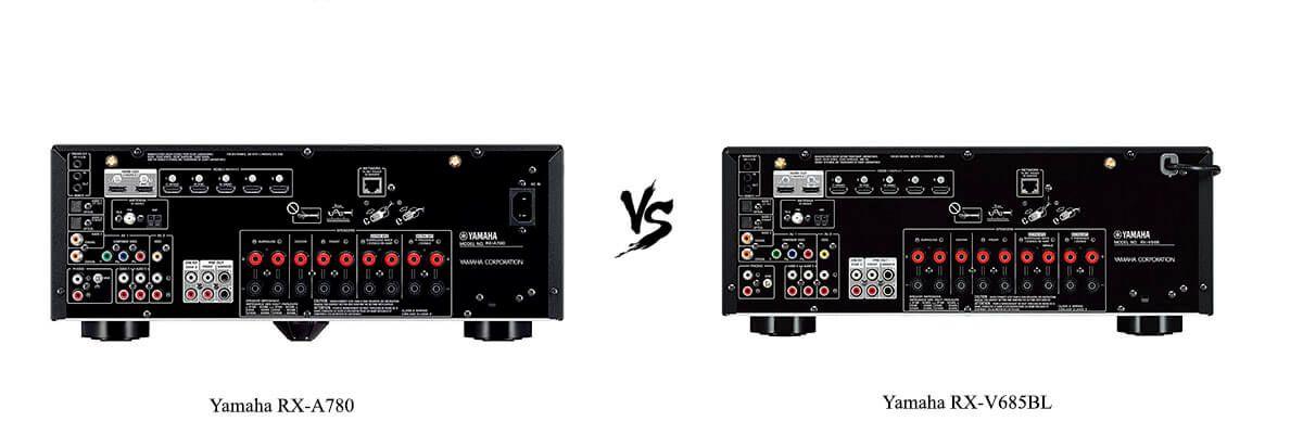Yamaha RX-A780 vs Yamaha RX-V685BL back
