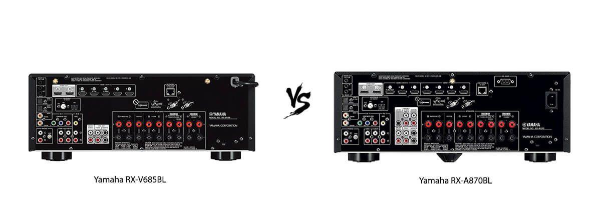 Yamaha RX-V685BL vs Yamaha RX-A870BL back
