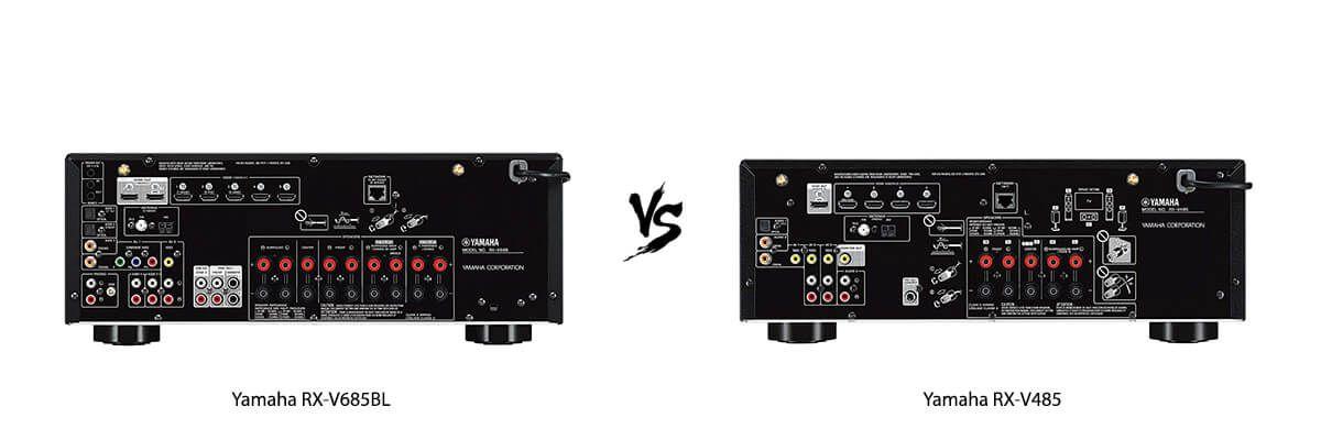 Yamaha RX-V685BL vs Yamaha RX-V485 back