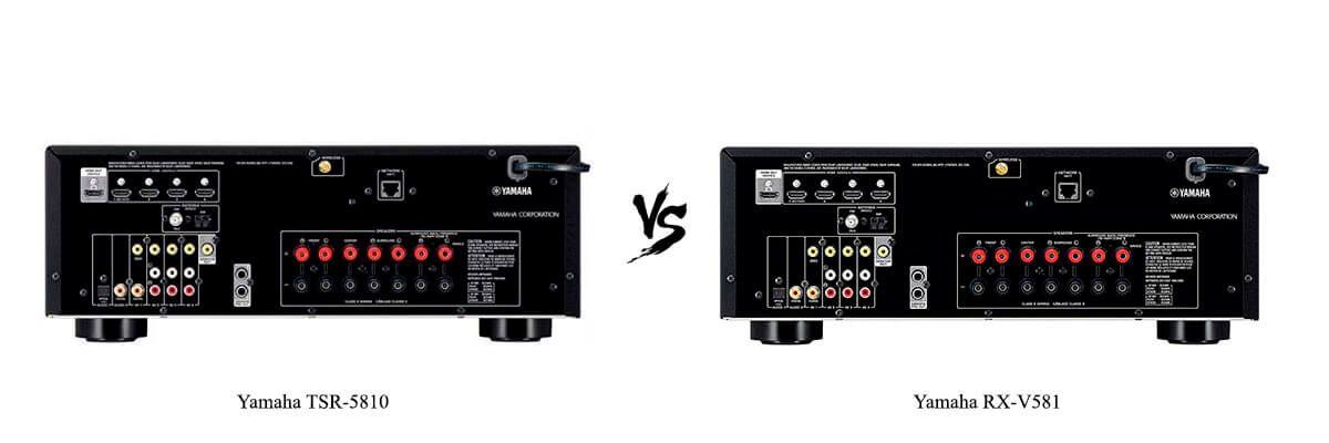 Yamaha TSR-5810 vs Yamaha RX-V581 back