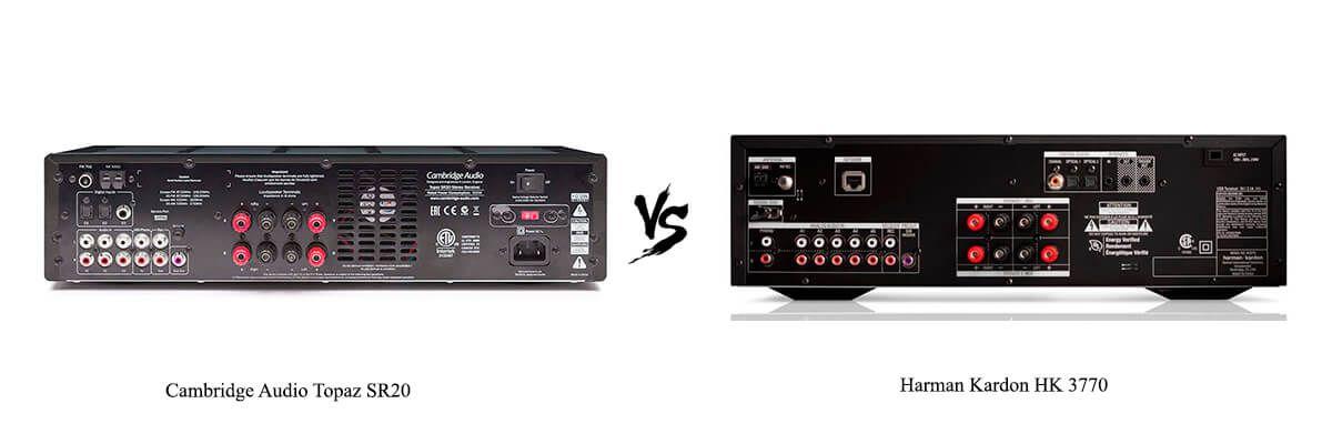 Cambridge Audio Topaz SR20 vs Harman Kardon HK 3770 back