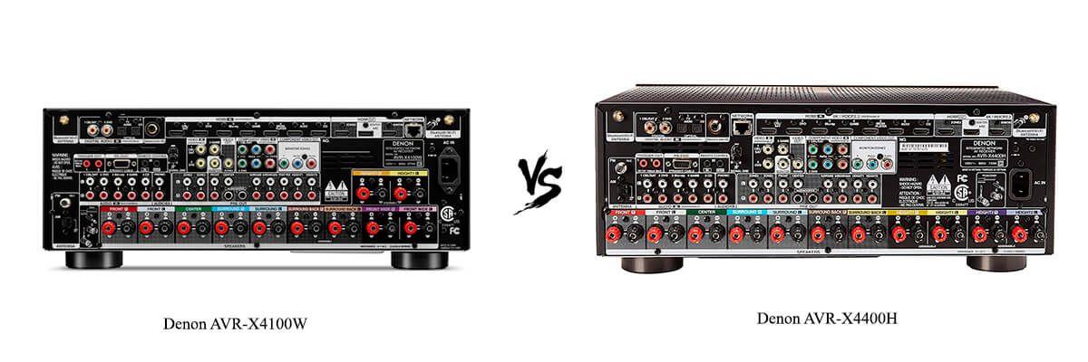 Denon AVR-X4100W vs Denon AVR-X4400H back