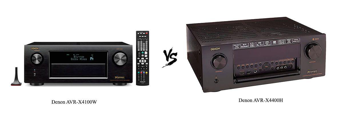 Denon AVR-X4100W vs Denon AVR-X4400H