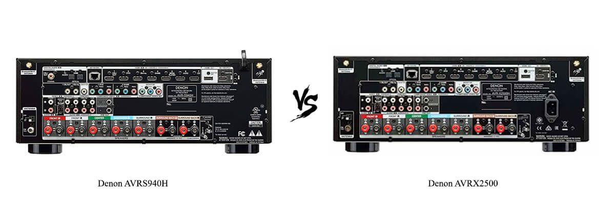 Denon AVRS940H vs Denon AVRX2500 back