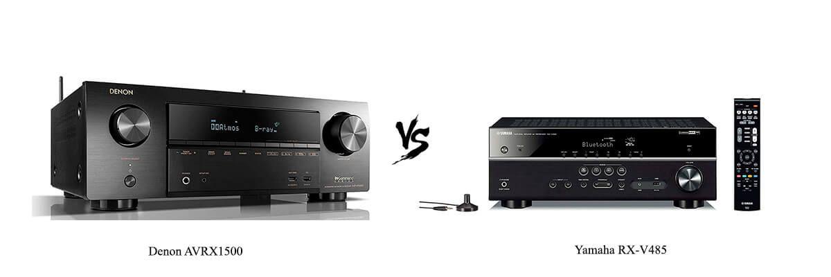 Denon AVRX1500 vs Yamaha RX-V485
