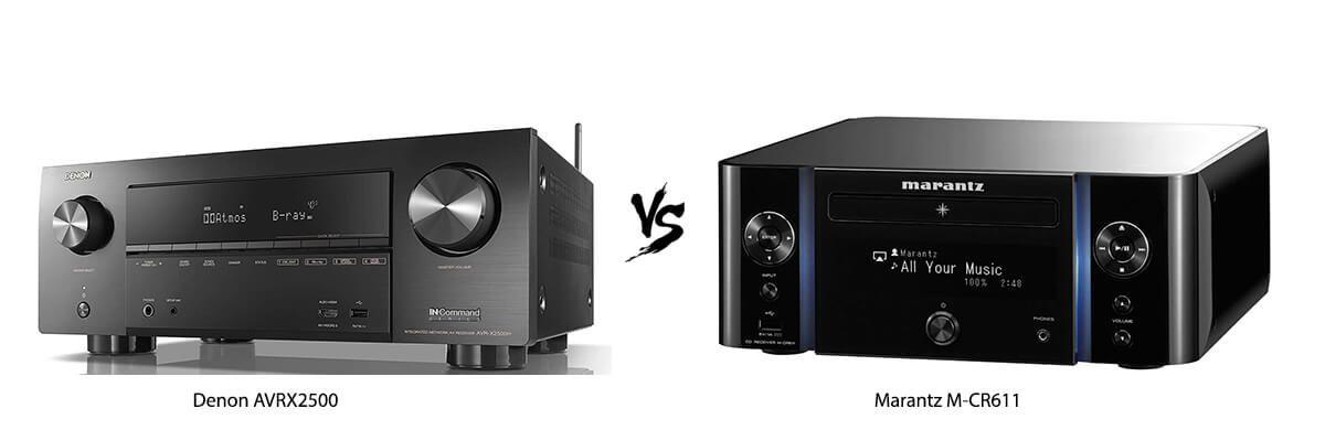 Denon AVRX2500 vs Marantz M-CR611