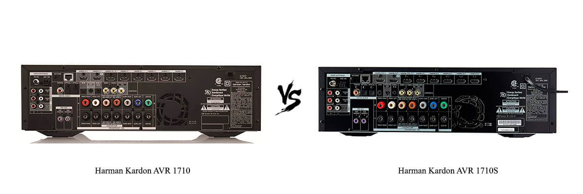 Harman Kardon AVR 1710 vs Harman Kardon AVR 1710S back