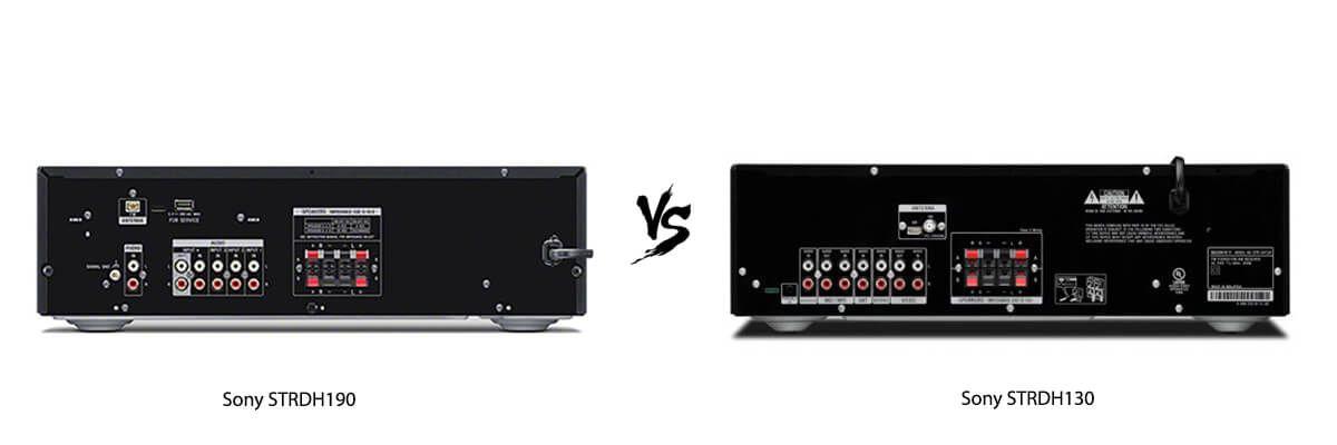 Sony STRDH190 vs Sony STRDH130 back