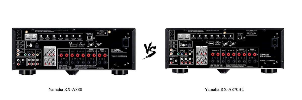 Yamaha RX-A880 vs Yamaha RX-A870BL back
