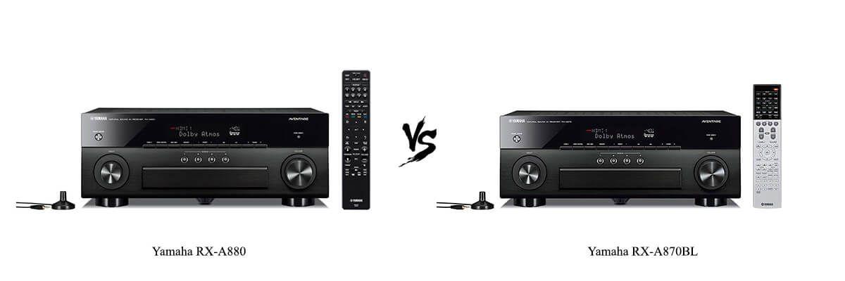 Yamaha RX-A880 vs Yamaha RX-A870BL