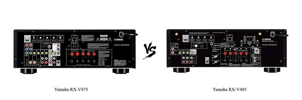 Yamaha RX-V475 vs Yamaha RX-V485 back