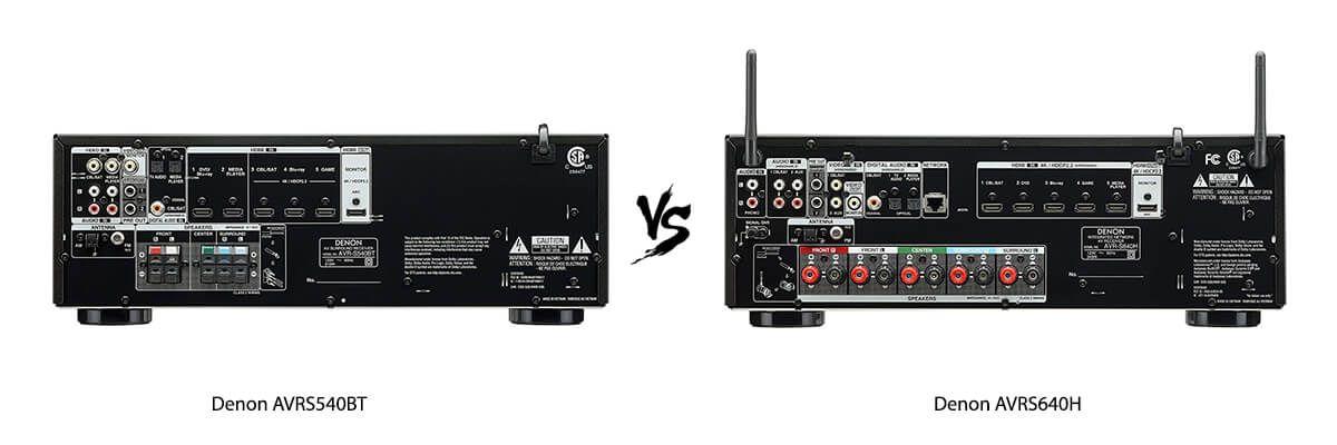 Denon AVRS540BT vs Denon AVRS640H back