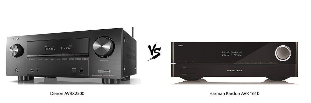 Denon AVRX2500 vs Harman Kardon AVR 1610
