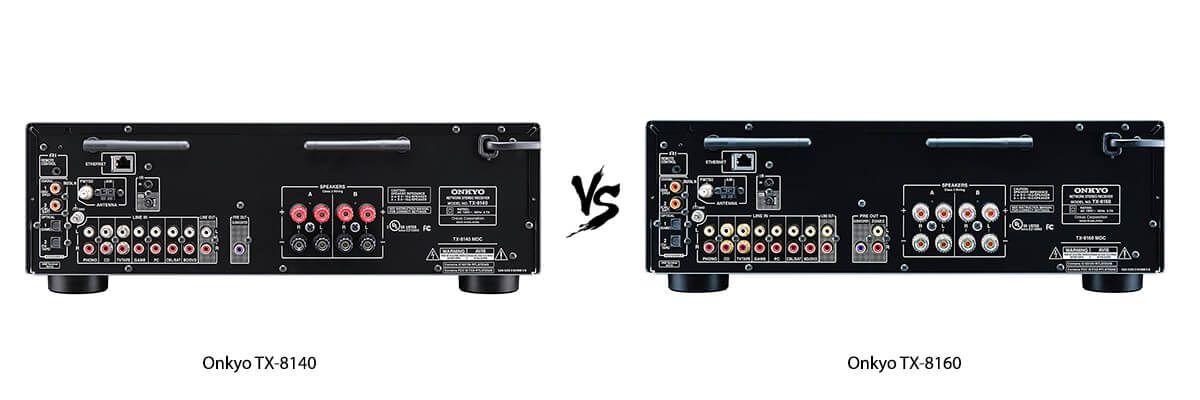 Onkyo TX-8140 vs Onkyo TX-8160 back