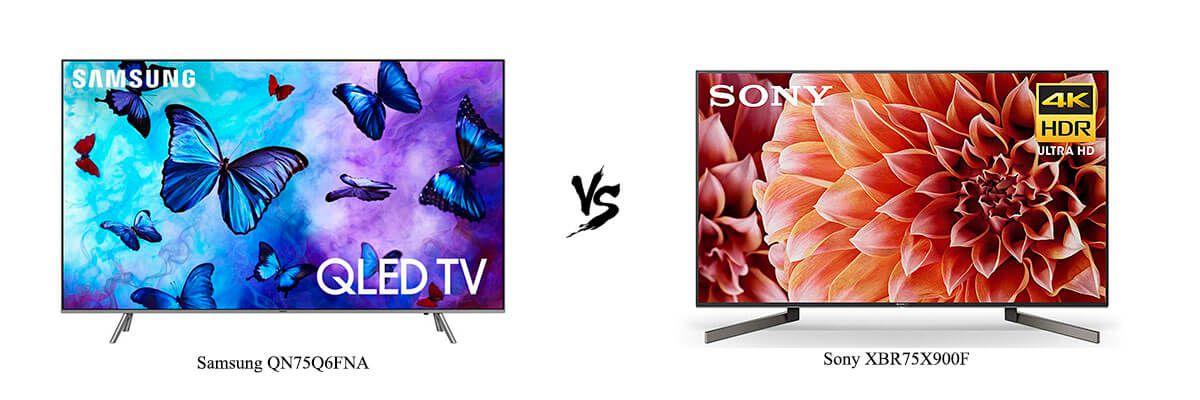 Samsung QN75Q6FNA vs Sony XBR75X900F
