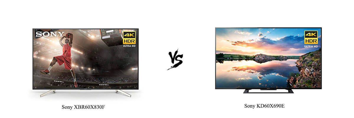 Sony XBR60X830F vs Sony KD60X690E