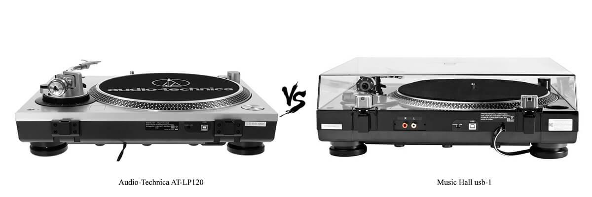 Audio-Technica AT-LP120 vs Music Hall USB-1