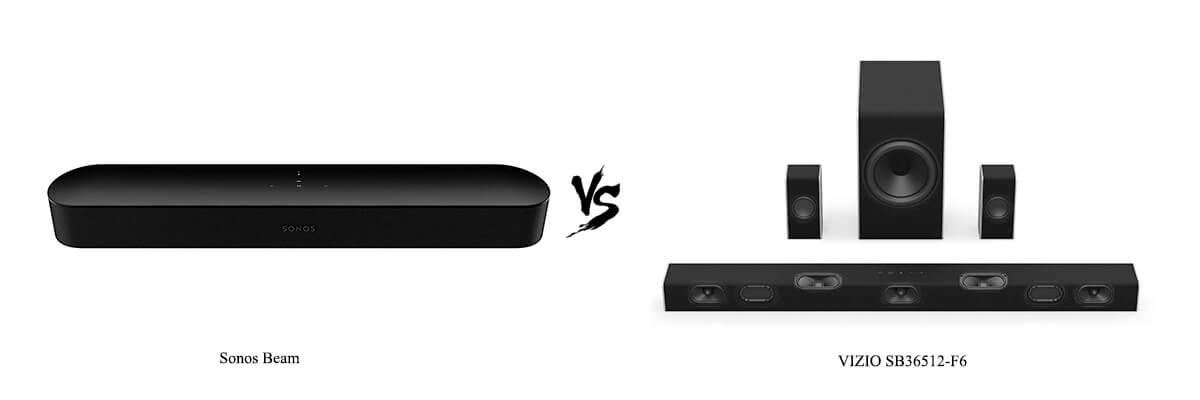 Sonos Beam vs VIZIO SB36512-F6