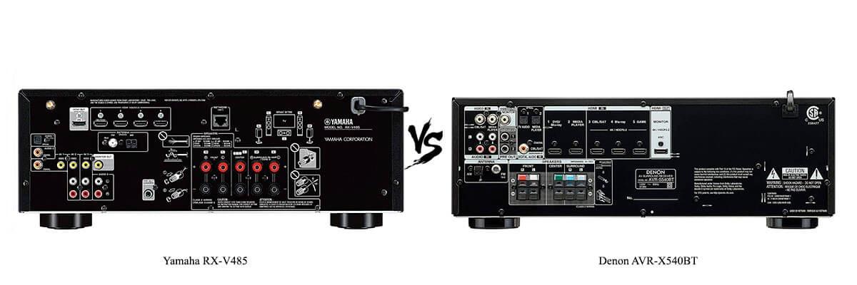 Denon AVR-X540BT vs Yamaha RX-V485