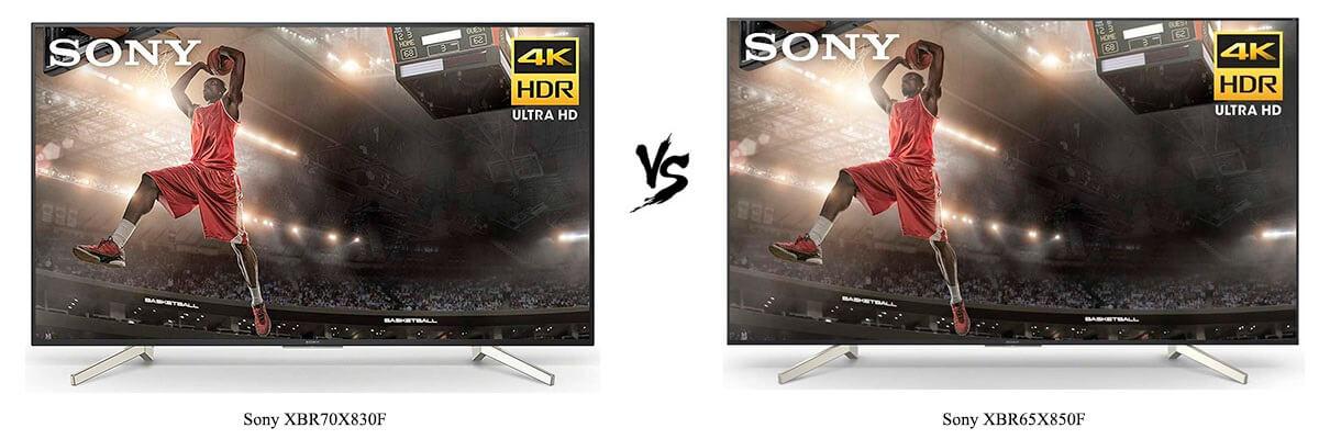 Sony XBR70X830F vs Sony XBR65X850F
