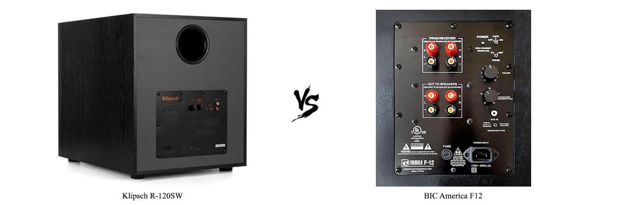 BIC America-F12 vs Klipsch R-120SW