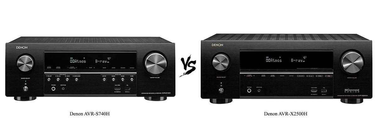 /Denon AVR-S740H vs Denon AVR-X2500H