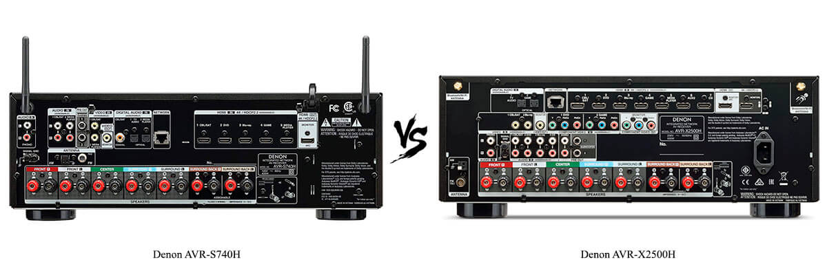Denon AVR-X2500H vs Denon AVR-S740H