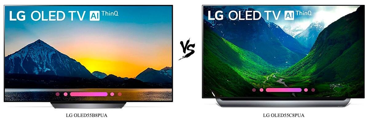 LG OLED55B8PUA vs LG OLED55C8PUA