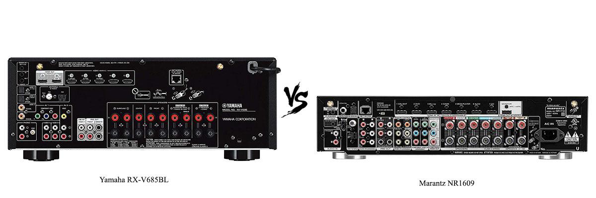 Marantz NR1609 vs Yamaha RX-V685B