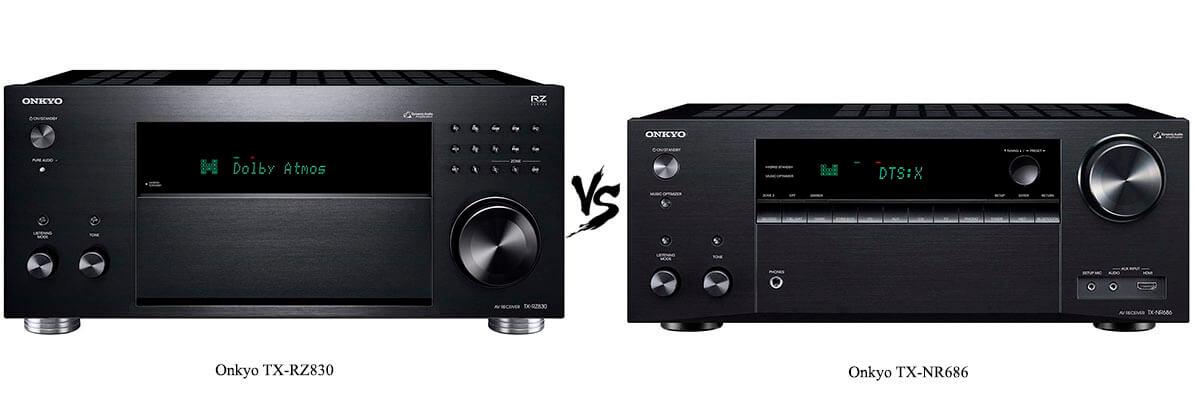 Onkyo TX-NR686 vs Onkyo TX-RZ830