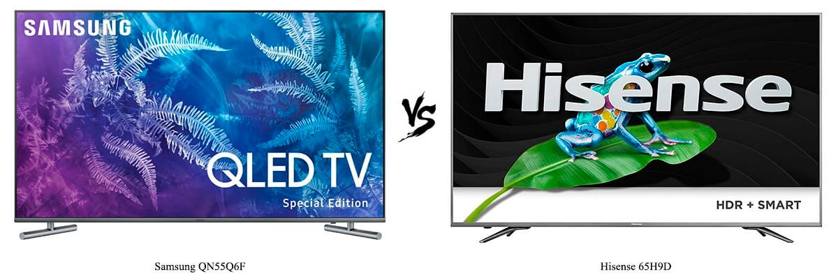 Samsung QN55Q6F vs Hisense 65H9D
