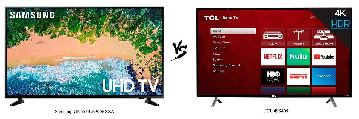 Samsung UN55NU6900FXZA vs TCL 49S405