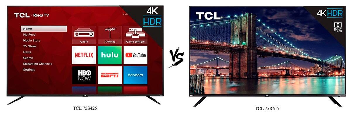 TCL 75S425 vs TCL 75R617