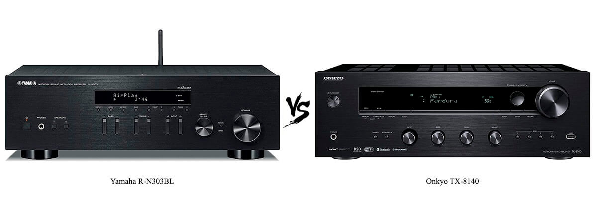Yamaha R-N303BL vs Onkyo TX-8140