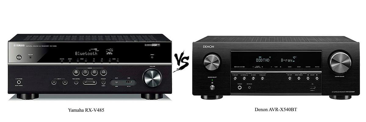 Yamaha RX-V485 vs Denon AVR-X540BT