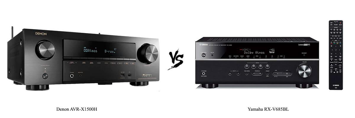 Denon AVR-X1500H vs Yamaha RX-V685BL