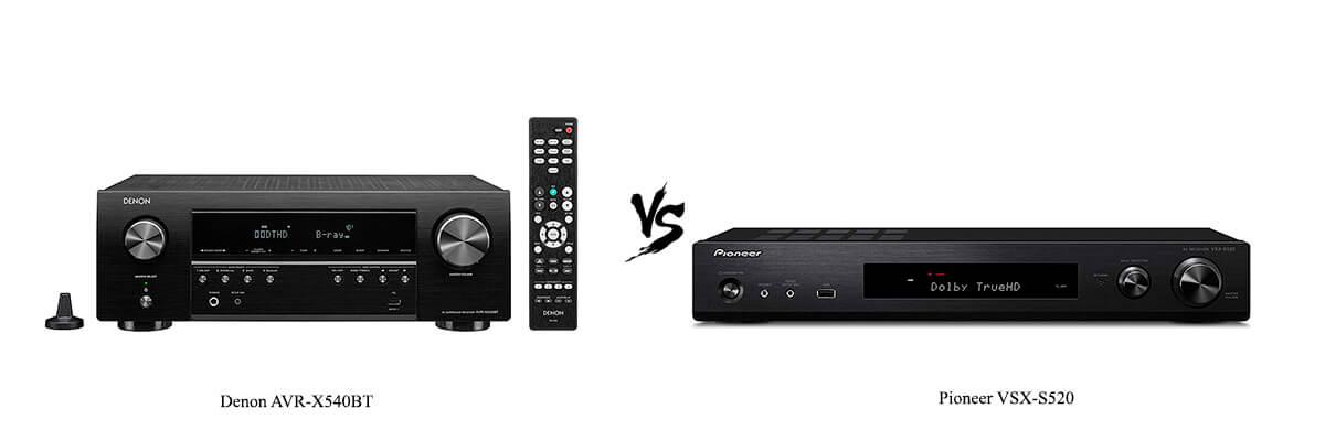 Denon AVR-X540BT vs Pioneer VSX-S520