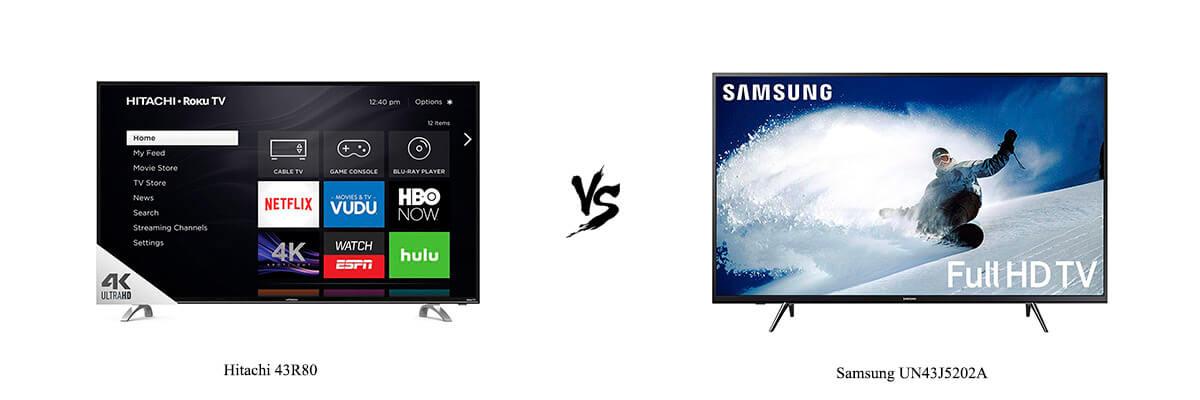 Hitachi 43R80 vs Samsung UN43J5202A