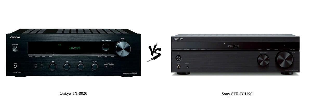 Onkyo TX-8020 vs Sony STR-DH190