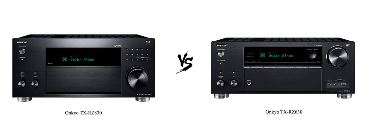 Onkyo TX-RZ830 vs Onkyo TX-RZ630